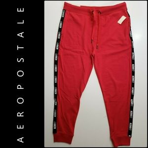 Aeropostale Women's Joggers Pants Large Red Nwt